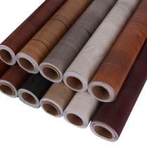 防水木紋PVC貼紙自粘墻紙衣柜櫥柜舊房門桌子家具翻新彩裝膜