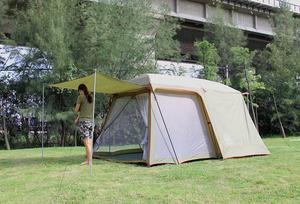 一室一厅帐篷 户外 3-4人家庭5-8人多人沙滩野外双层露营帐篷
