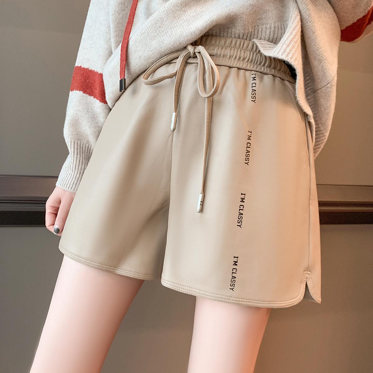 小四原创欧洲站冬季2020女装新款短裤韩版百搭时尚休闲裤女欧货