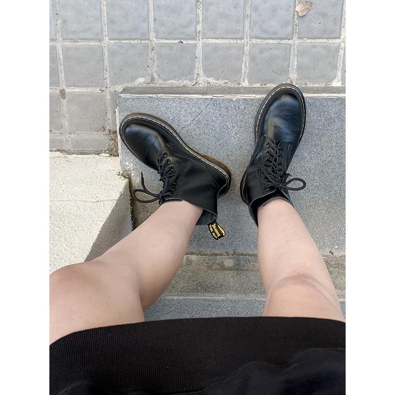 四幕马丁靴女2019新款 百搭英伦风短靴女网红靴子女超火骑士靴女11月29日最新优惠