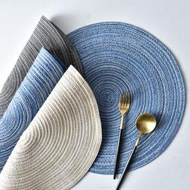 加点乐日式苎麻防滑餐垫防油锅垫碗盘垫家用圆形餐桌垫防烫隔热垫