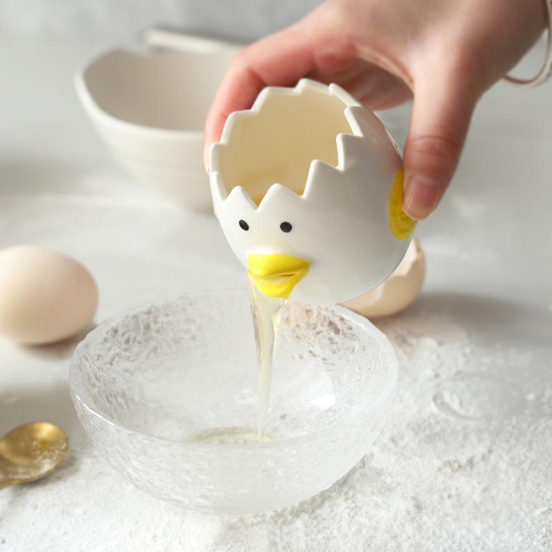 Счастливый музыка остров керамика яичный белок отдельный устройство творческий филиал яйцо яйца желтый белок автоматическая фильтр выпекать выпекать инструмент