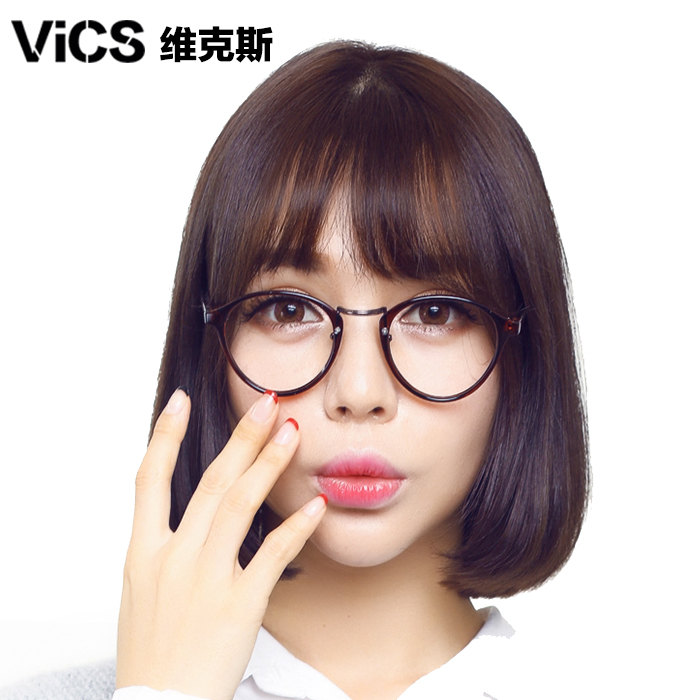 Retro spectacle frame TR90 can be equipped with short-sighted womens big face super light eye frame Korean Chao round face full frame spectacle frame