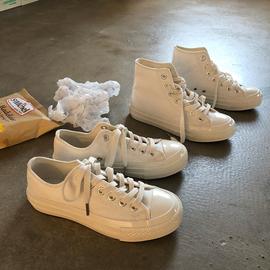 林先参 小白鞋女ins潮2020新款春季高帮帆布鞋子学生百搭韩版板鞋