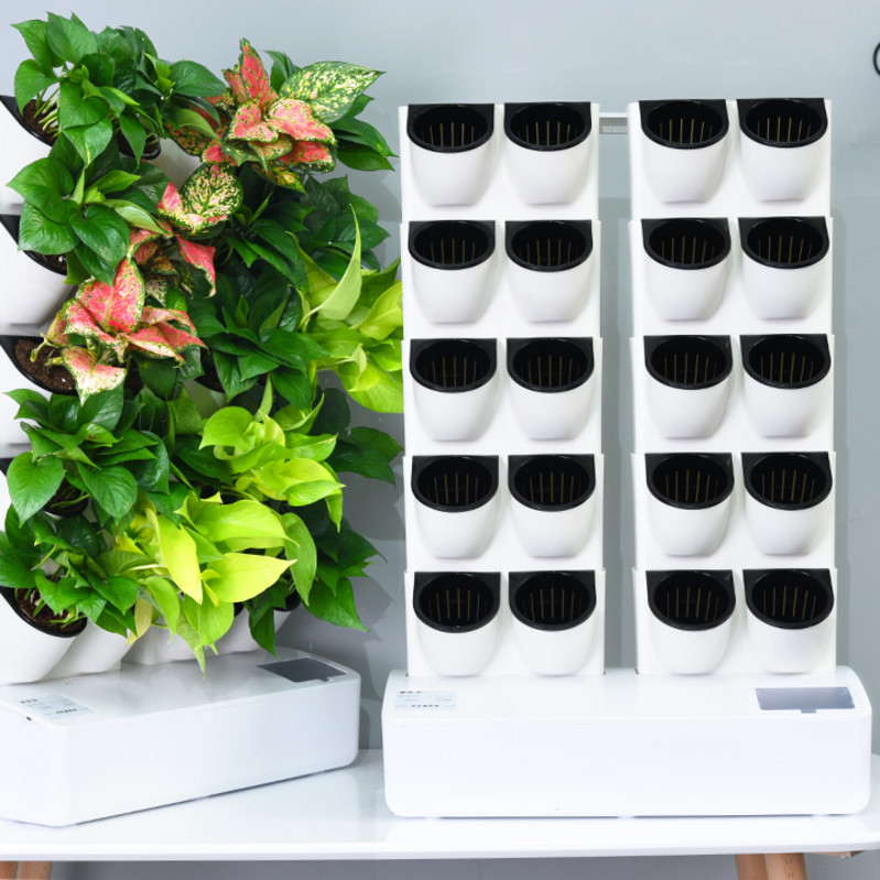 インテリジェント植木鉢電子ミニ自動灌漑タイミングで家庭用の小さな庭に水をやります。