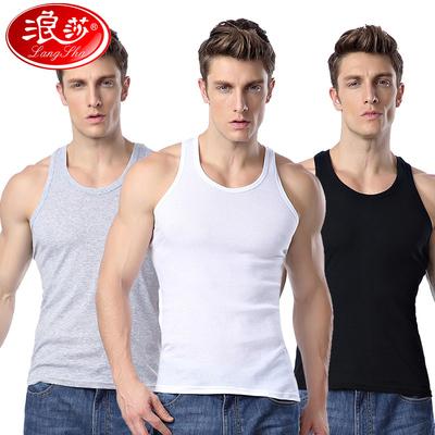 3件浪莎男士纯棉青年透气夏季宽松
