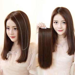 假发贴片女长发两侧增厚发量垫发蓬松直发一片式无痕接发头顶补发