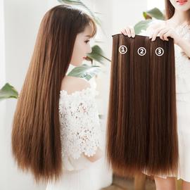 艾妮雅假发片女长发增厚发量蓬松贴片一片式隐形无痕接发仿真自然图片