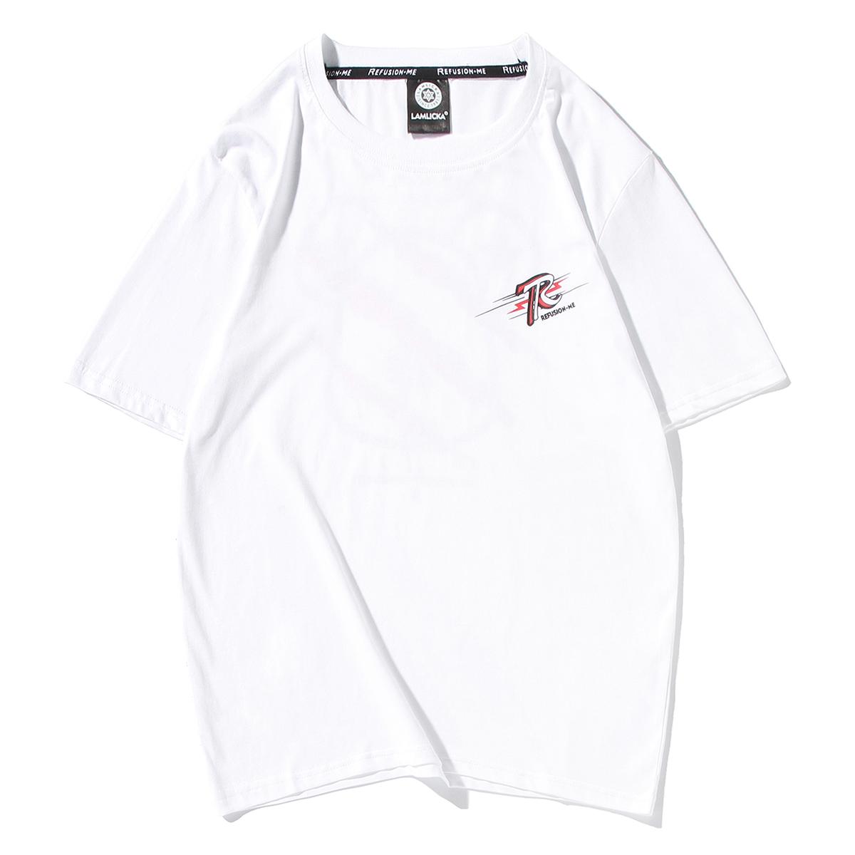 夏季男女装原创时尚潮牌街头暴力熊抓痕烫金卡通动漫印花短袖T恤