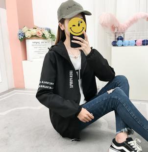 春秋薄款 上衣 韩版 休闲小夹克短外套修身 印花棒球服外套女2020新款