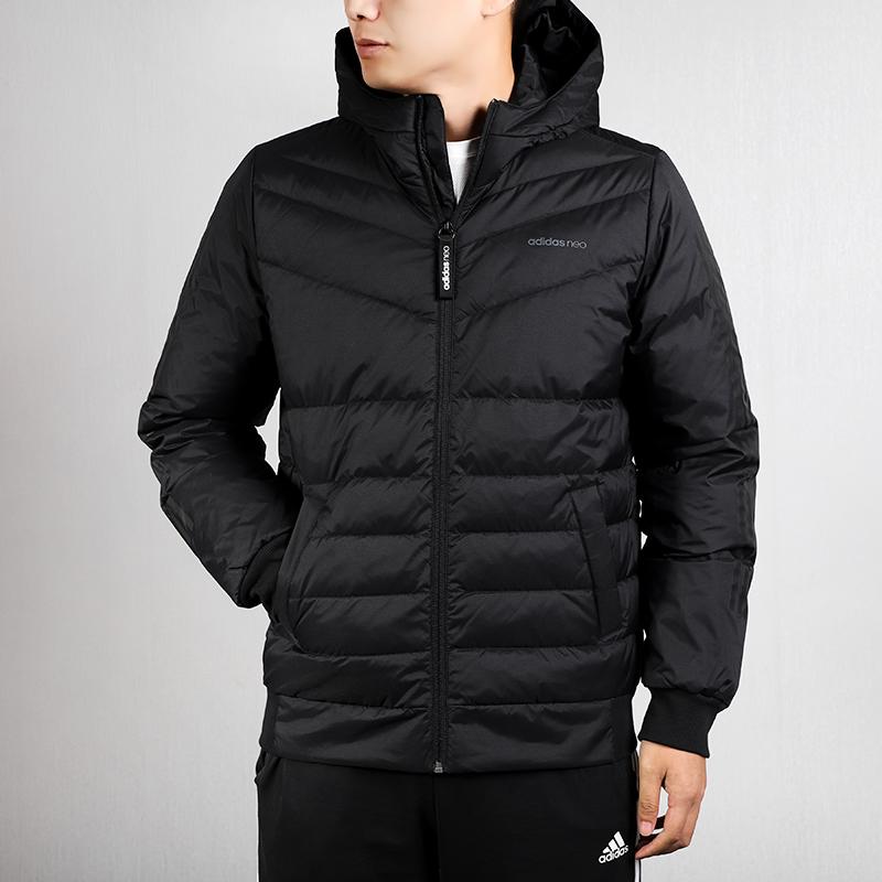 Adidas阿迪达斯短款羽绒服男2019冬季新款NEO保暖运动服外套棉衣满469.00元可用1元优惠券