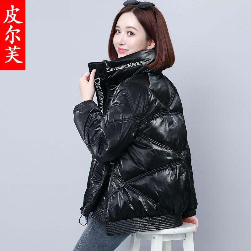 亮面羽绒棉服女装韩版宽松2020冬季新款面包服小个子短款轻薄棉衣