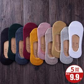 船袜女硅胶防滑全隐形袜子浅口女薄款纯色棉春秋夏季日系短袜韩国图片