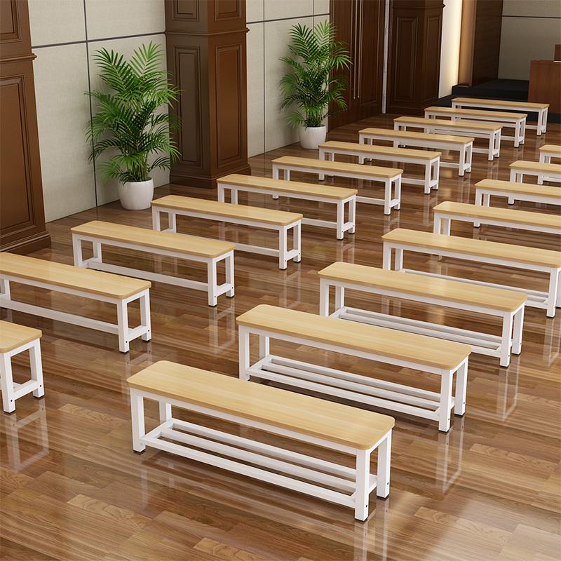 靠墙钢木浴室更衣室餐桌换鞋凳