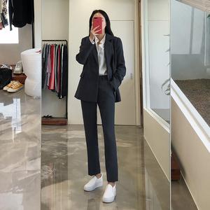 秋冬新款韩版OL职业正装时尚气质修身西服面试工作服小西装套装女