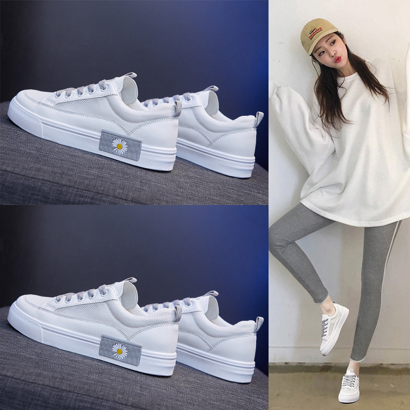 Small white shoes womens summer thin model 2020 spring new ins womens shoes popular casual sports soft sole shoes