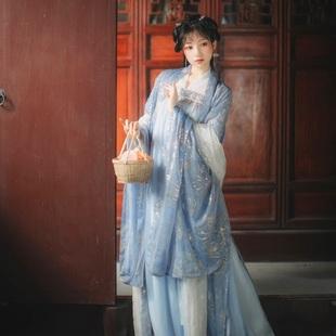 雲夢澤改良漢服女仙氣中國風漢古裝元素古裝仙女飄逸齊胸襦裙春款