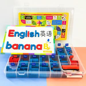 英文字母磁力贴磁性自然拼读教具磁铁冰箱贴儿童英语单词卡片玩具