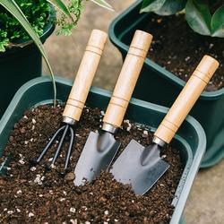 盆栽小铲子种花养花铁锹松土花铲园艺种植多肉工具套装三件套家用