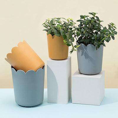 简约个性北欧加厚小花盆家用创意树脂塑料现代加仑多肉盆特价清仓
