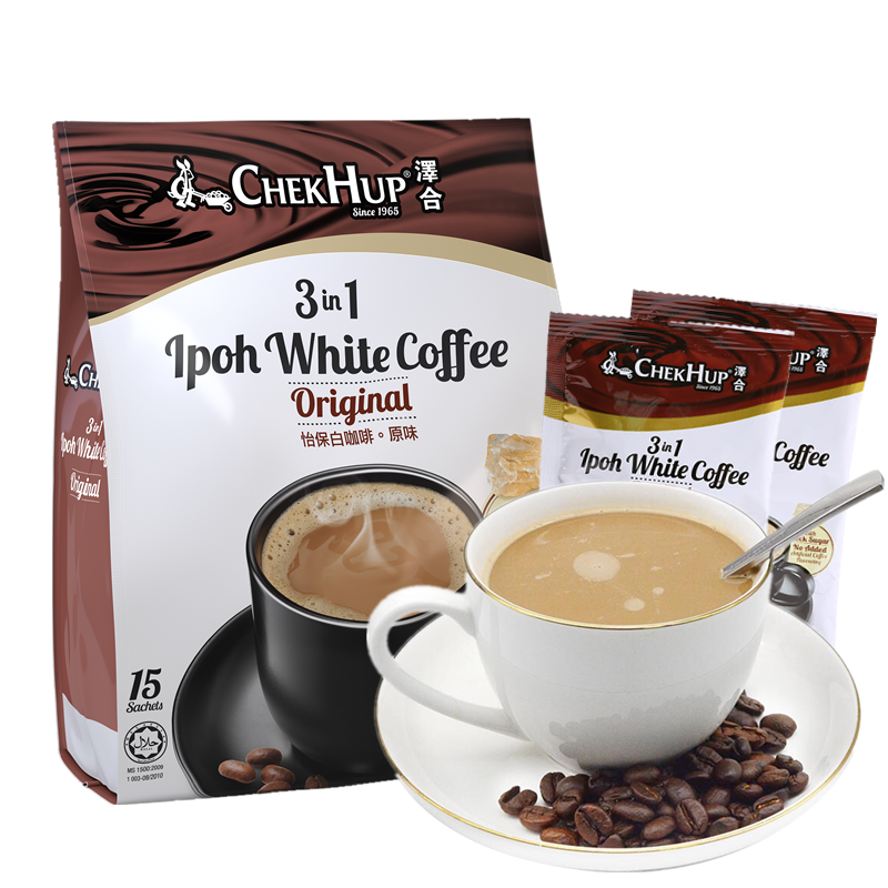 Malaysia imported zehe Ipoh white coffee three in one original Ipoh instant coffee powder zehe coffee
