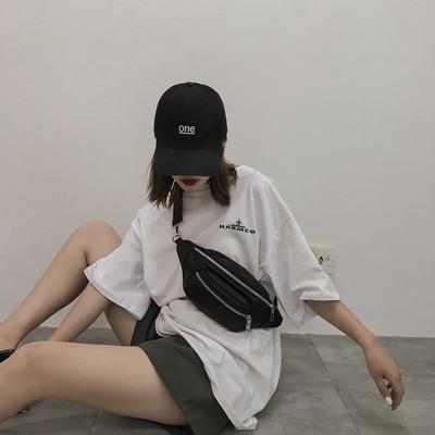 包包女2019新款潮酷斜挎百搭ins韩版学生洋气胸包腰包网红小黑包