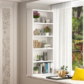 飘窗上的书架小书柜简易窗台儿童学生收纳置物架木质阳台落地组合