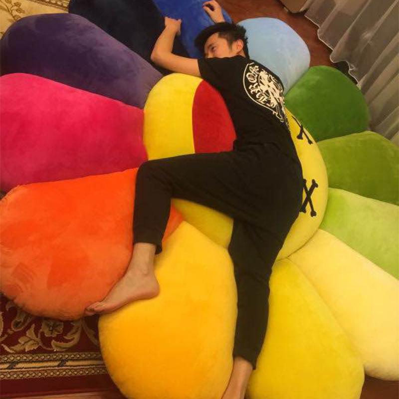 太阳花睡觉抱枕床上可爱布娃娃网红公仔女孩玩偶超萌韩国毛绒玩具10月24日最新优惠