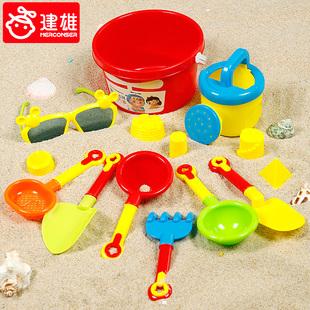 儿童沙滩玩具车套装海边沙漏宝宝玩沙子挖沙小铲子和桶决明子工具