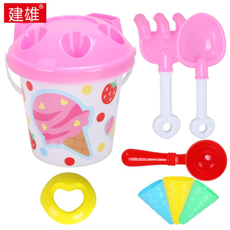 建雄兒童沙灘玩具桶套裝大號寶寶玩沙子挖沙漏鏟子工具冰淇淋玩具
