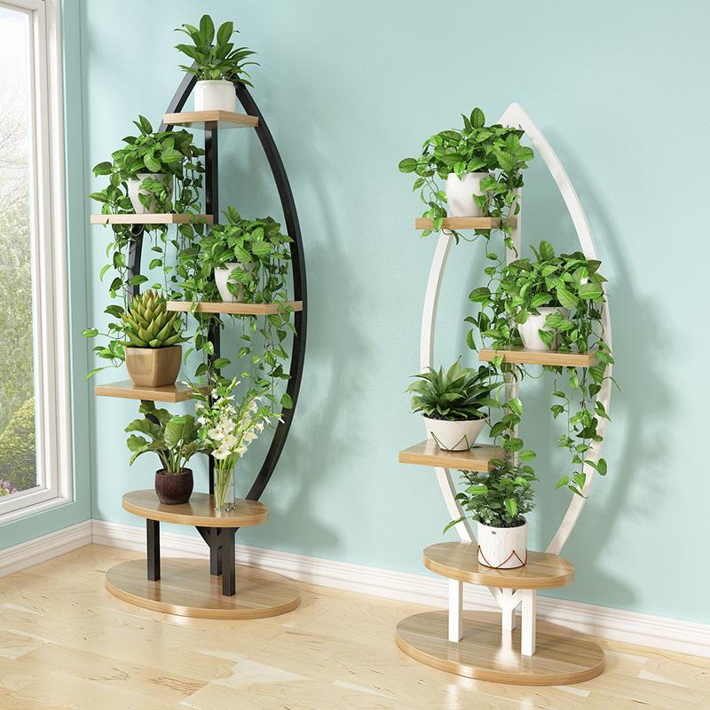 客厅家用花架子多层室内置物架省空间新款阳台装饰绿萝吊兰架