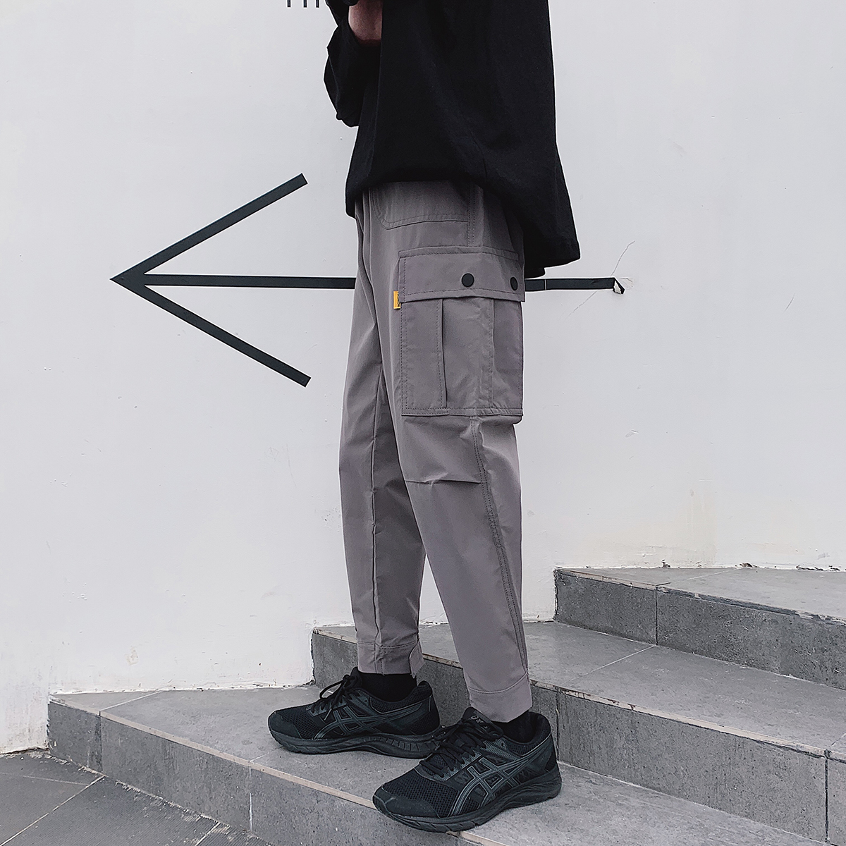 秋季男士潮流工装休闲裤潮牌宽松九分裤子 DSA365-CK04-P60控价78