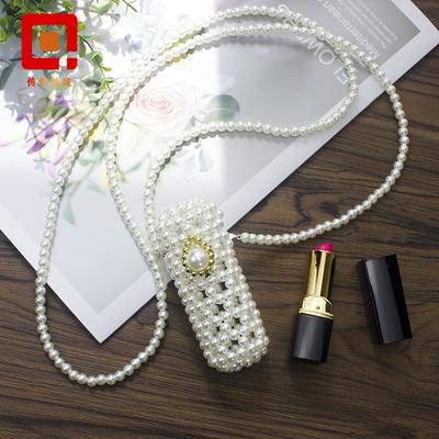 手工串珠成品小号装饰包包仙气搭配mini斜跨珍珠包复古编织口红包