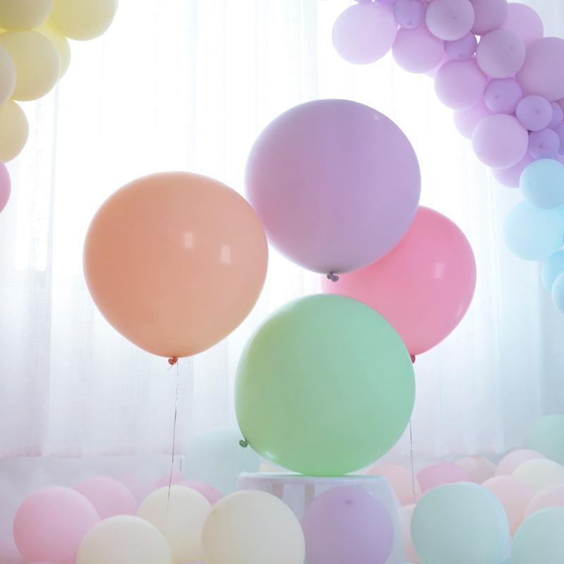 18寸中号结婚婚礼拍照马卡龙劳动节浪漫气球酒吧商场表演布置气球