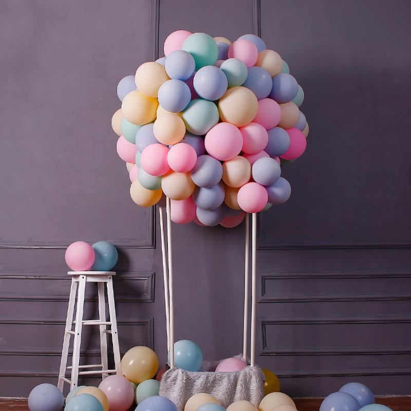 5寸地爆球求婚礼房生日宝宝宴派对布置装扮马卡龙糖果色乳胶气球