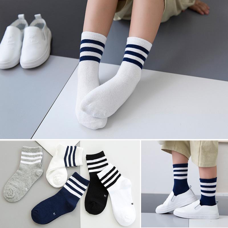 春秋新款儿童袜子纯棉女童男童5-7-9-12岁无骨棉袜中大童棉袜短袜