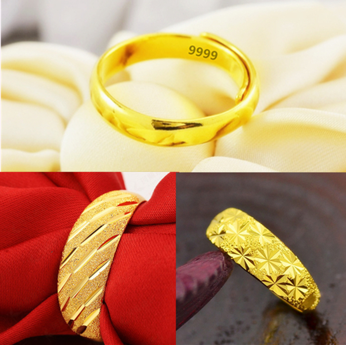 Euro imitation gold mens ring Vietnam gold plated lady adjustable ring couple wedding jewelry