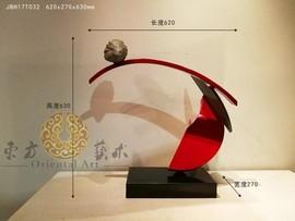 酒店玄关创意雕塑新雕塑作品综合材料雕塑摆件现代新雕塑装饰品图片