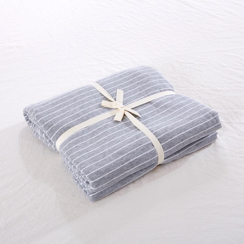 全棉無印床笠床墊套1.2單件床單簡約純色針織天竺棉 1.51.8m床罩