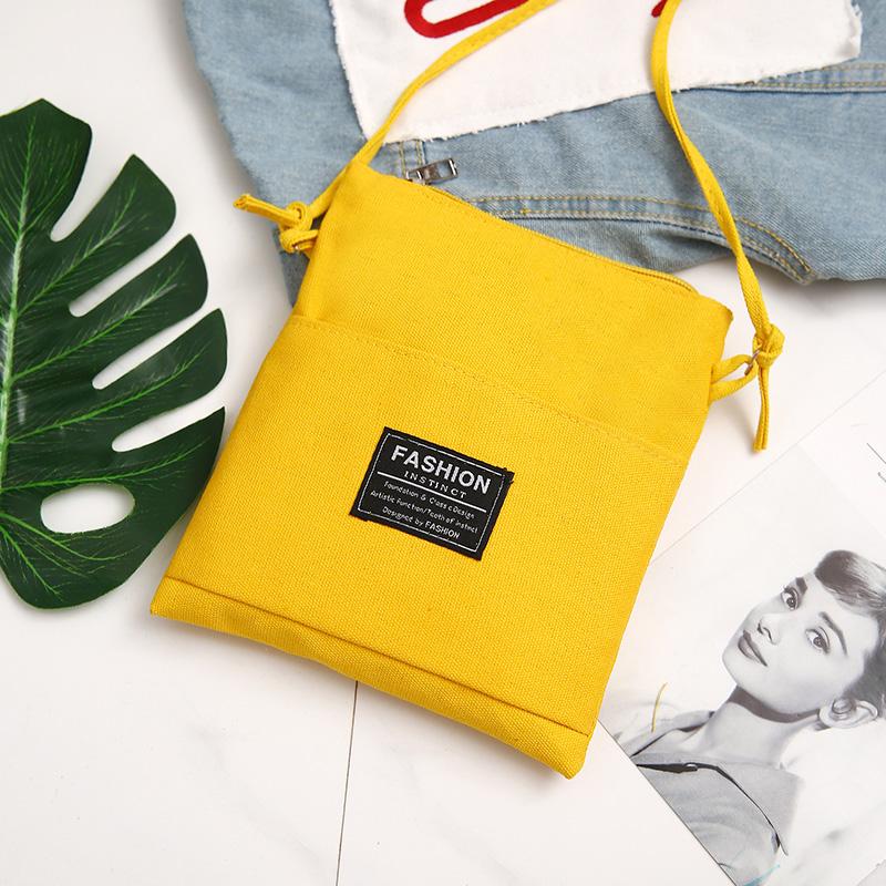 韓版帆布包女文藝單肩包簡約百搭手提包原宿學生書包手機包零錢包