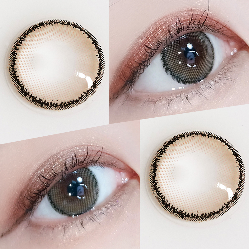 Tina beauty throws small diameter genuine big brand teardrop Brown contact lenses every year