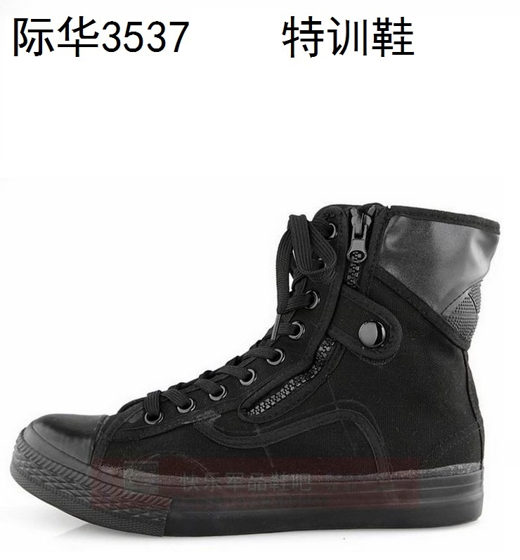 Release shoes special training shoes military shoes mountaineering hiking shoes 46 high top canvas spring and autumn 3537 cloth shoes are authentic training shoes