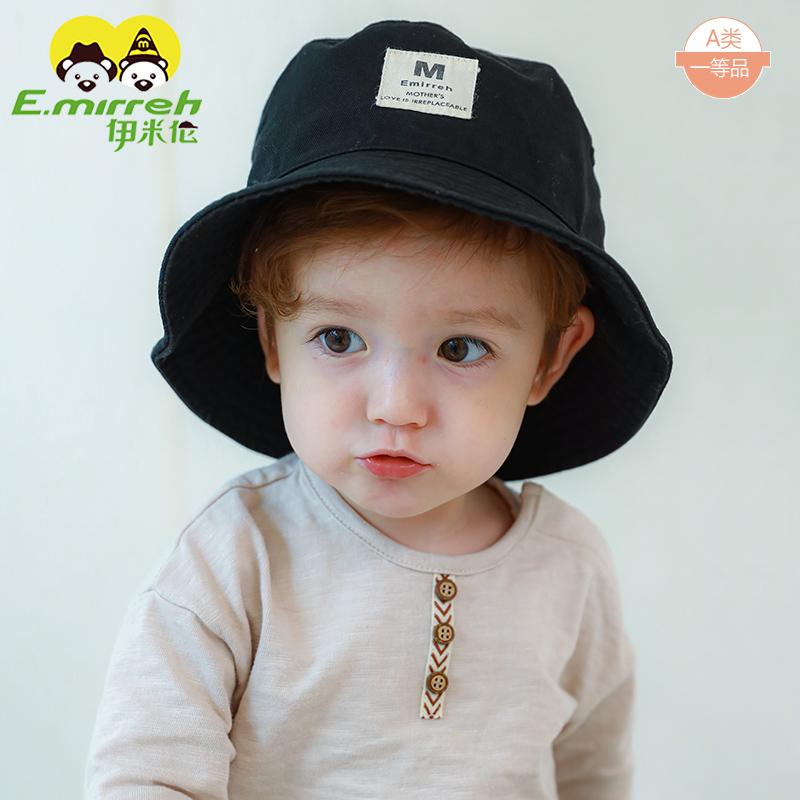 亲子太阳帽春秋季一家三口防晒遮阳帽韩版男童女童渔夫帽盆帽纯棉