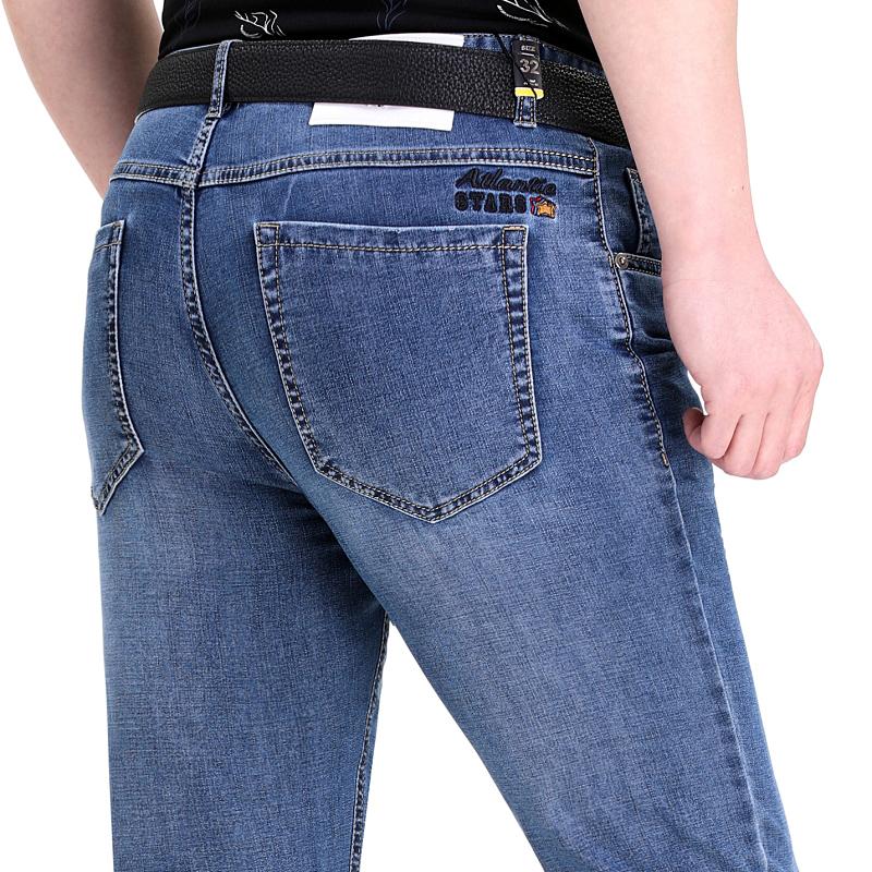 高级名牌男式牛仔裤好质量夏天穿中青年时尚直筒裤商务百搭男装店