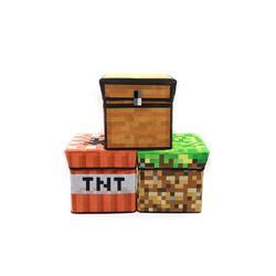 我的世界游戏周边玩具模型陷阱宝箱TNT草坪收纳凳储物箱子摆凳子