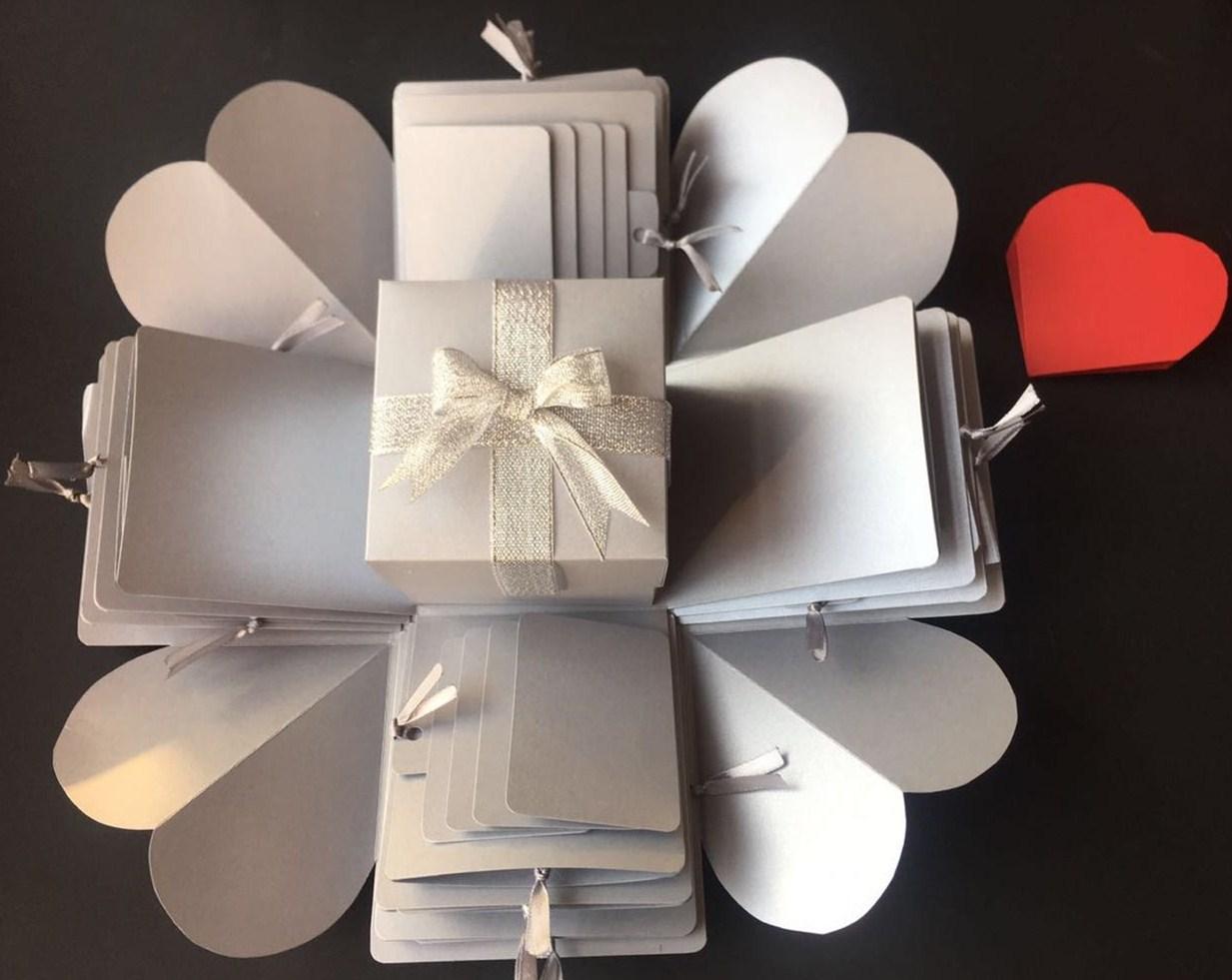 珠光色网红爆炸盒子送男女朋友闺蜜十八岁生日礼物 惊喜DiY相册