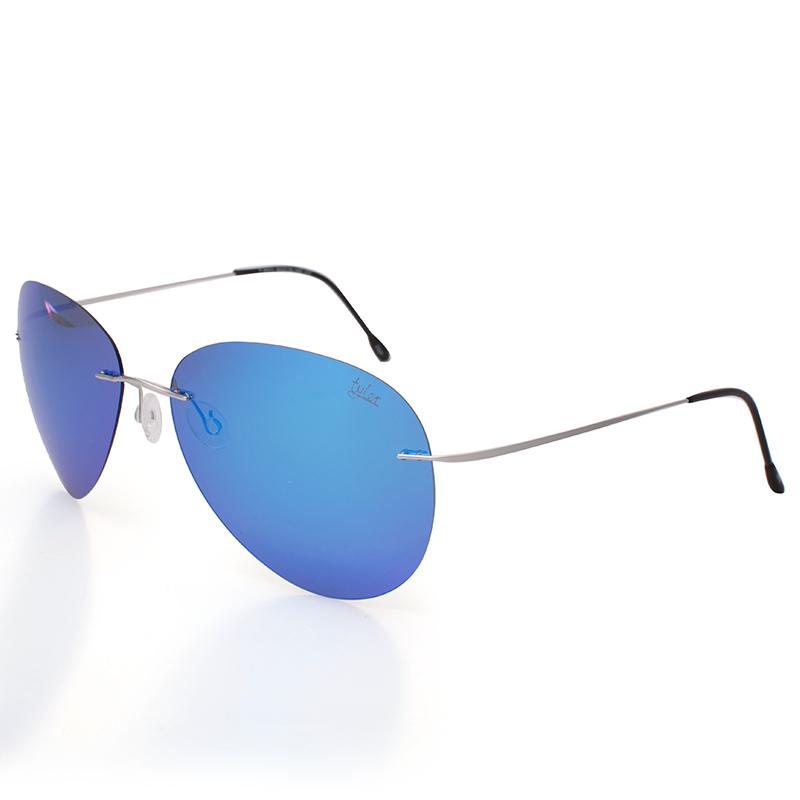 Tyler Sunglasses male glasses polarized frameless Sunglasses driving driver Chaoren pure titanium ultra light toad mirror