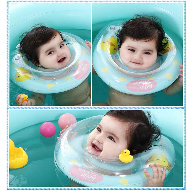 婴儿游泳圈脖圈新生儿洗澡泳圈颈圈幼儿泳圈充气3六6九个月送气筒