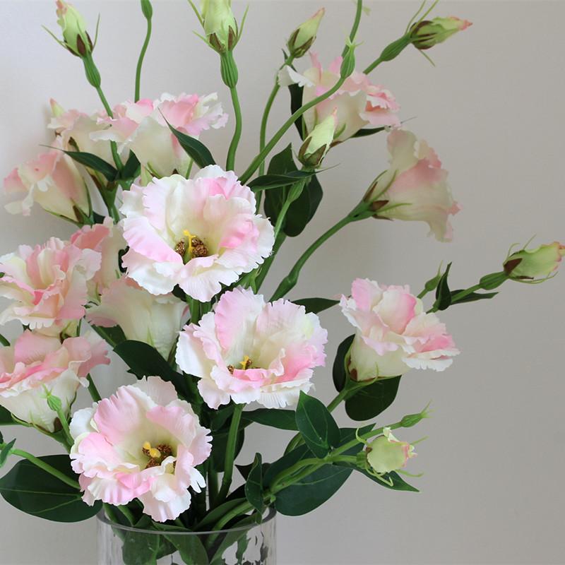洋桔梗仿真花客厅装饰摆件餐桌摆设假花花束绢花插花花艺家居饰品