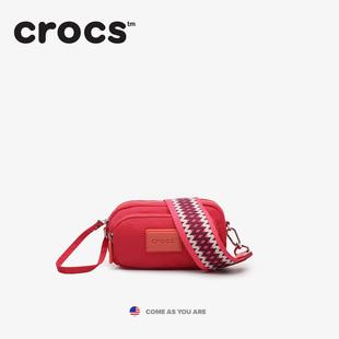 美国Crocs宽肩带2019春夏ins休闲迷你尼龙斜挎单肩包小包包胸包女